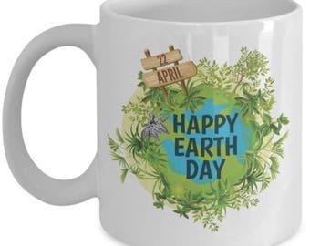 Happy Earth Day Ceramic Coffee Mug gift idea