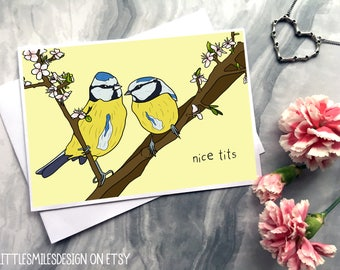 Nice tits - Funny Valentines Card