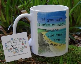By The Sea Mug Hand Made Original Design