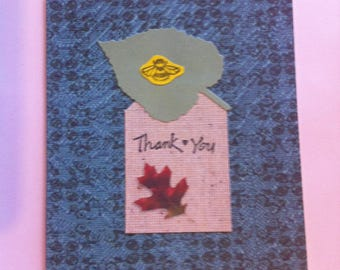 Set of four nature themed thank you cards