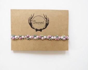 Purple and Pink Floral//TALLYN BAND//baby headband//toddler headband//handmade