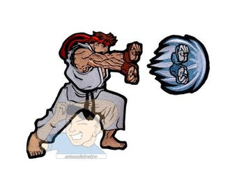 Street Fighter 2 Ryu Hadouken Attack Embroidered Big Patch Capcom Videogame