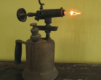 Steampunk Industrial blowtorch Lamp