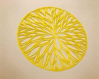 Circle shaped paper cut