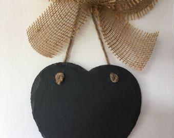 Slate heart wall hangers