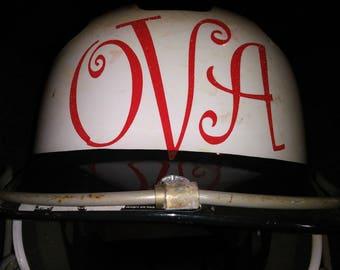 Monogram Helmet Decal