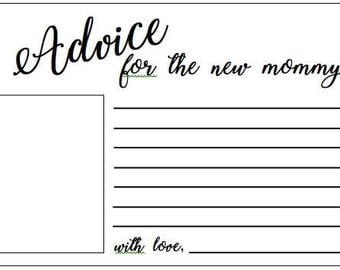 Advice Card for the New Mommy-to-Be