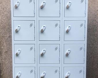 Vintage Refurbished school lockers industrial chic