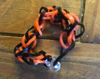 Black and Orange Colored Bracelet
