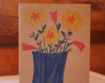 flower Pot Greeting Card