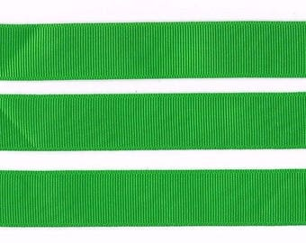 """CLASSICAL GREEN 22MM 7/8"""" Grosgrain Ribbon Craft Bow Decoration Metre Yard Cake Celebration Colour RB37"""