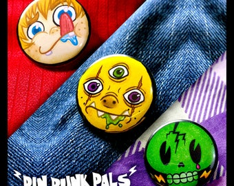 Pin Punk Pals (series 1) Set
