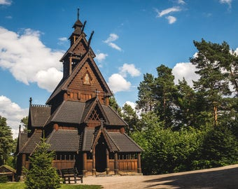 NORWAY Gol Stave Church Fine Art Print Oslo Bergen