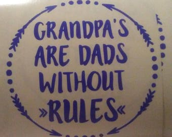 Decal for Grandpa's