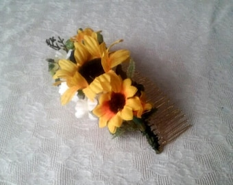 Sunflower Haircomb, accessory, wedding, rustic
