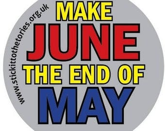 30x88mm Stickers - Make June the end of May.