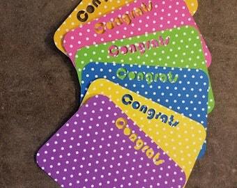 Congrats Note Cards - Set of 6 - Congrats...Fun Note Cards, Polka Dots, Cards