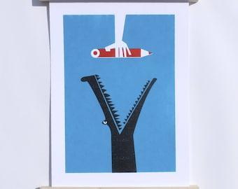 Poster blue Croco