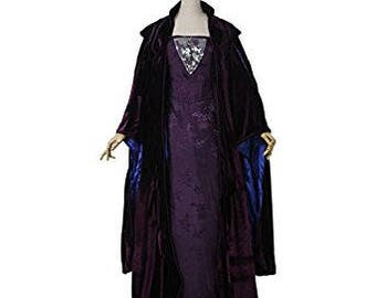 Padme Amidala purple Senate dress and velvet cape