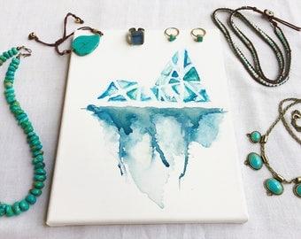 Watercolor Iceberg Canvas
