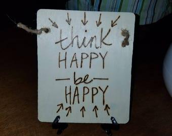 Happy woodburn sign