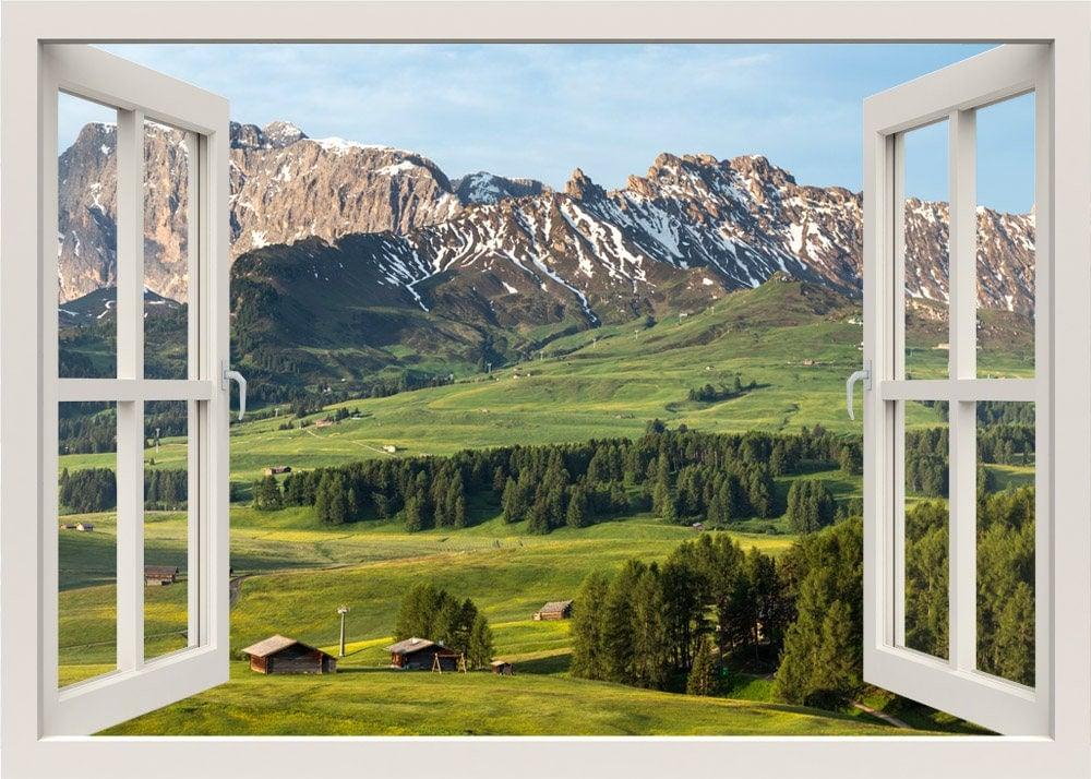Berge Ansicht Wandtattoo 3d Fenster Wandtattoo Blick Auf Die