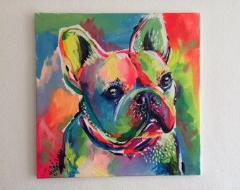 Custom and Colourful Original Pet Portrait