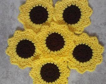 Handmade Sunflower Coasters