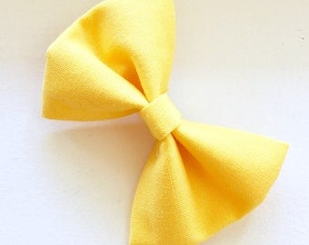 Simple Bow-Golden Yellow Bow