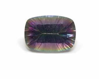 Mystic Topaz Gemstone Emerald cut Rounded 6ct