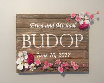 Customized Floral Sign
