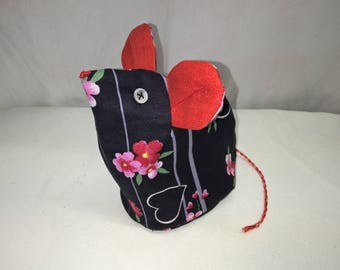 "Kit ""The little mouse"", purse, make-up bag"