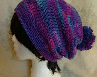 Mixed Purple Beanie