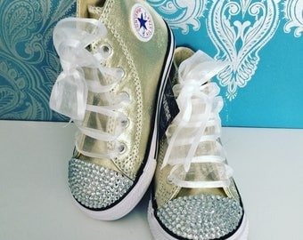 Gold crystal high Converse
