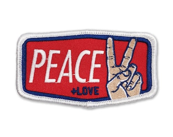 Peace & Love: Embroidered Patch