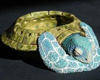 Sleeping Sea Turtle Candle Holder