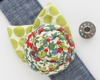 Sewing Gift Flower Pincushion Cuff | Fabric Rose Wrist Corsage Pin Cushion Bracelet