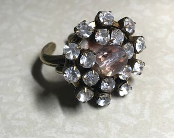 Sparkler Rhinestone Ring Adjustable - all PROFITS donated to the ACLU
