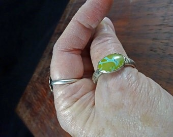 Silver and Nevada Turquoise Ring