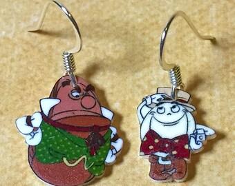 Hamm 'n Eggz earrings (White)