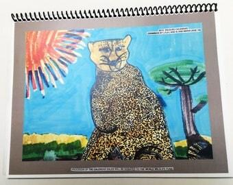 Wildlife Calendar for 2018, art by children, benefit for World Wildlife Fund, drawings by children,wildlife drawings art, 2018 calendar,2018