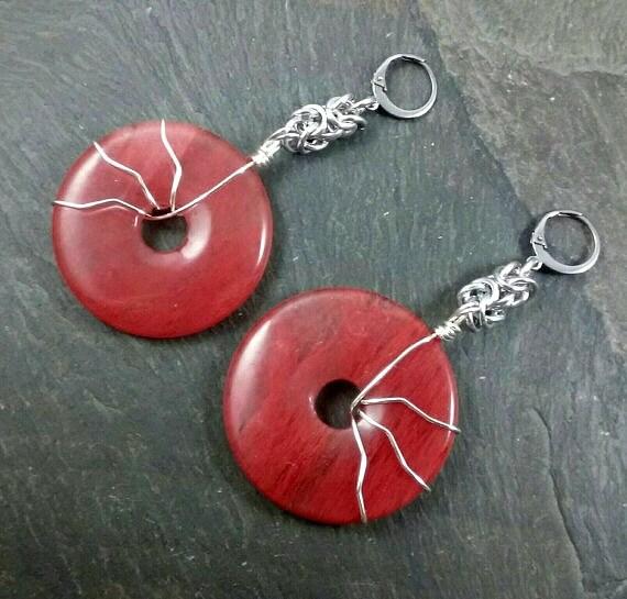 Decorative Ear Weights : Decorative ear weights glass donuts earrings for