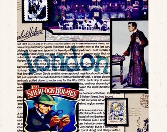 SHERLOCKs LONDON Collage Photo Notecard