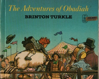 The Adventures of Obadiah - Brinton Turkle - 1974 - Vintage Kids Book