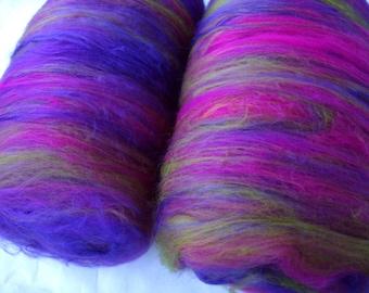 4oz, 18 micron felting batts, spinning batts, merino silk, fiber batts, nuno felting fiber, spinning fiber, carded wool, batting, 115g