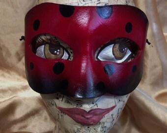 Dark Goth Ladybug, leather ladybug mask by faerywhere
