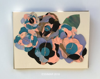 Chama Paper Flowers Card 2016