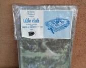 Vintage 1960s Tablecloth Vinyl MCM 60s Sabath Jewish Holidays Judaica Home 201714