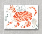 Cat Articulated Paper Doll, Illustrated Print, Puppet, Craft, Decoration, Scrapbooking