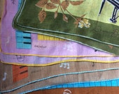 Vintage Hankies,Music Design,Signed Hanky Rachelle,Handkerchief,Designer Hankies,Musical Notes